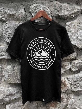 Pánské tričko Happy Nature logo - černé