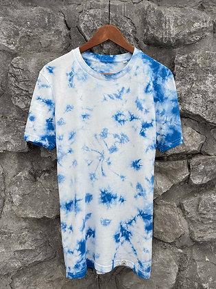 Dámské tričko batikované - modré