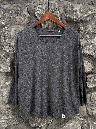 Dámské elegantní tričko bez potisku - šedé