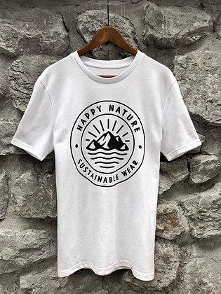 Pánské tričko Happy Nature logo - bílé