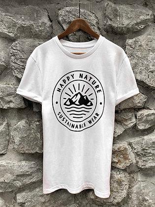 Dámské tričko Happy Nature logo - bílé