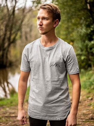 Pánské tričko Hory - šedé