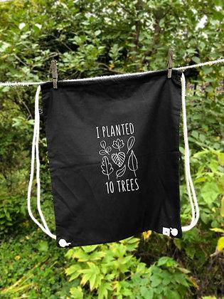 Skatebag I planted 10 trees - černý