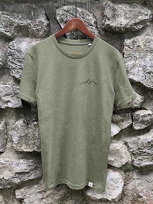Pánské tričko Hory - zelené