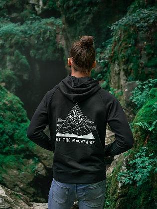 Pánská mikina Hit the mountains - černá