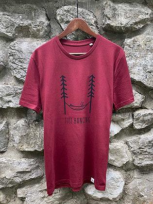 Pánské tričko Just hanging - vínové
