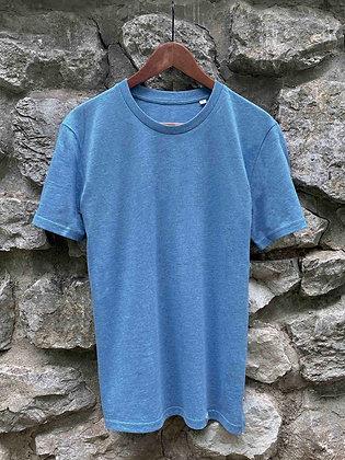 Pánské tričko bez potisku - modré