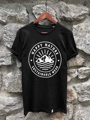 Dámské tričko Happy Nature logo - černé