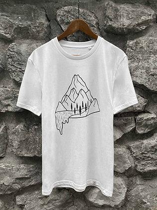 Pánské tričko Vodopád - bílé