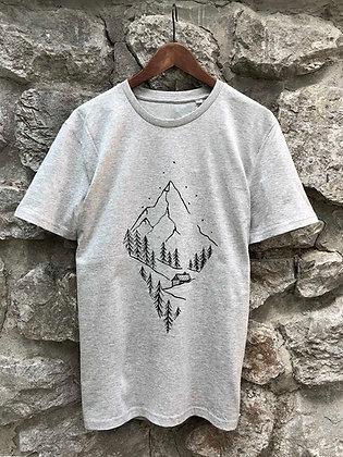 Pánské tričko Pure nature - šedé