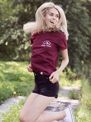 Zachraňte dámské tričko Never stop dreaming - vínové