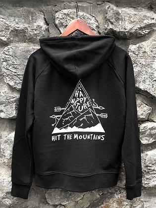 Dámská mikina Hit the mountains - černá