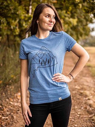 Dámské tričko Vodopád - modré