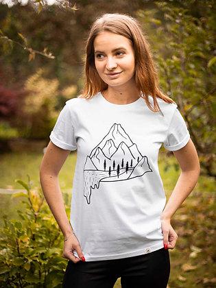 Dámské tričko Vodopád - bílé