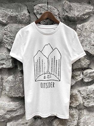 Zachraňte dámské tričko Outsider - bílé