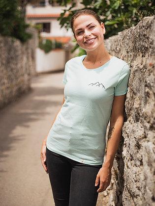 Zachraňte dámské tričko Hory - tyrkysové