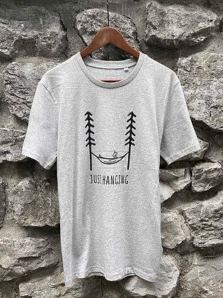 Pánské tričko Just hanging - šedé