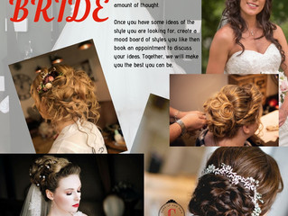 Let's give you the Bridal hair style to match your dress...