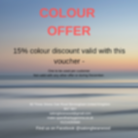 15% colour discount valid with this vouc