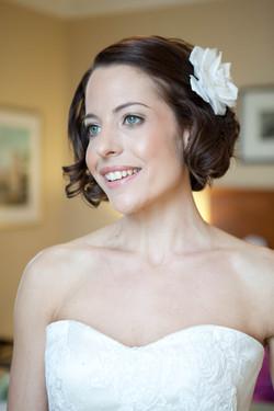 Retro bridal hair and make up