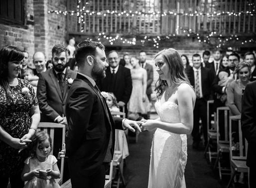 A Winter Wedding at Curradine Barns