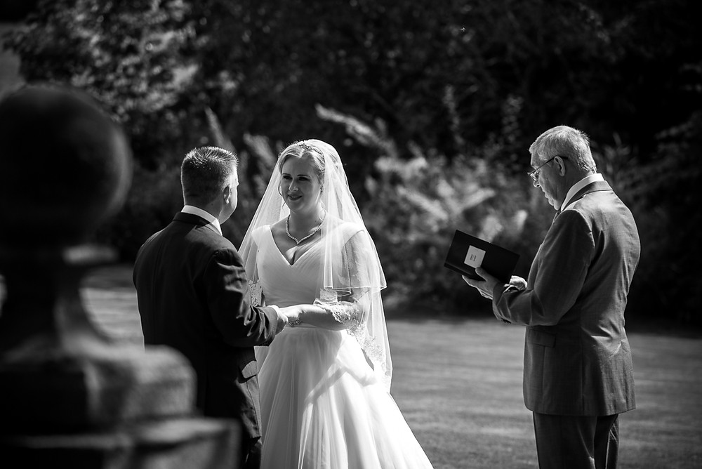 Silhouette of Bride & Groom at sunset at Wethele Manor wedding