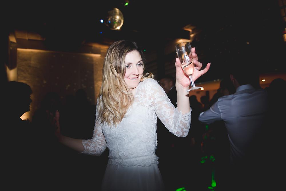 bride dancing at bristol wedding