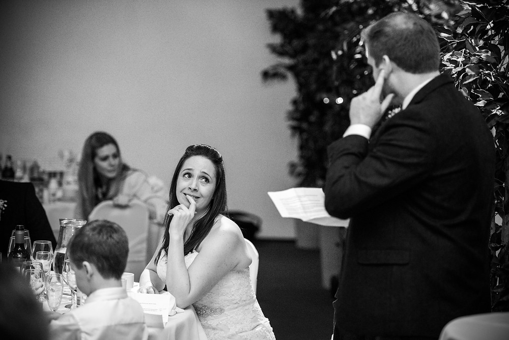 Wedding speeches in the Fazeley room at FazeleY  Studios