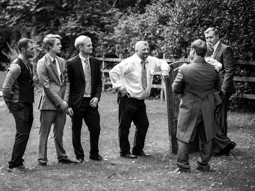 Discussing important stuff!! - my favourite Wedding images
