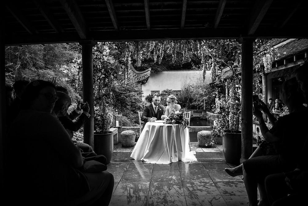 Matara Centre cloistered courtyard wedding ceremony