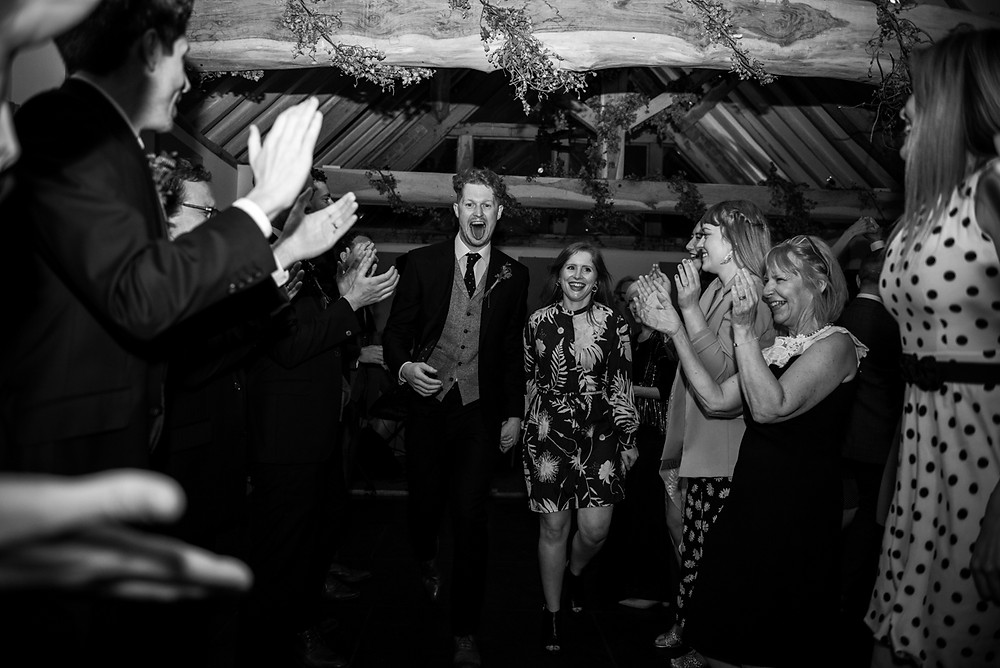 Irish dancing at Wethele Manor wedding reception