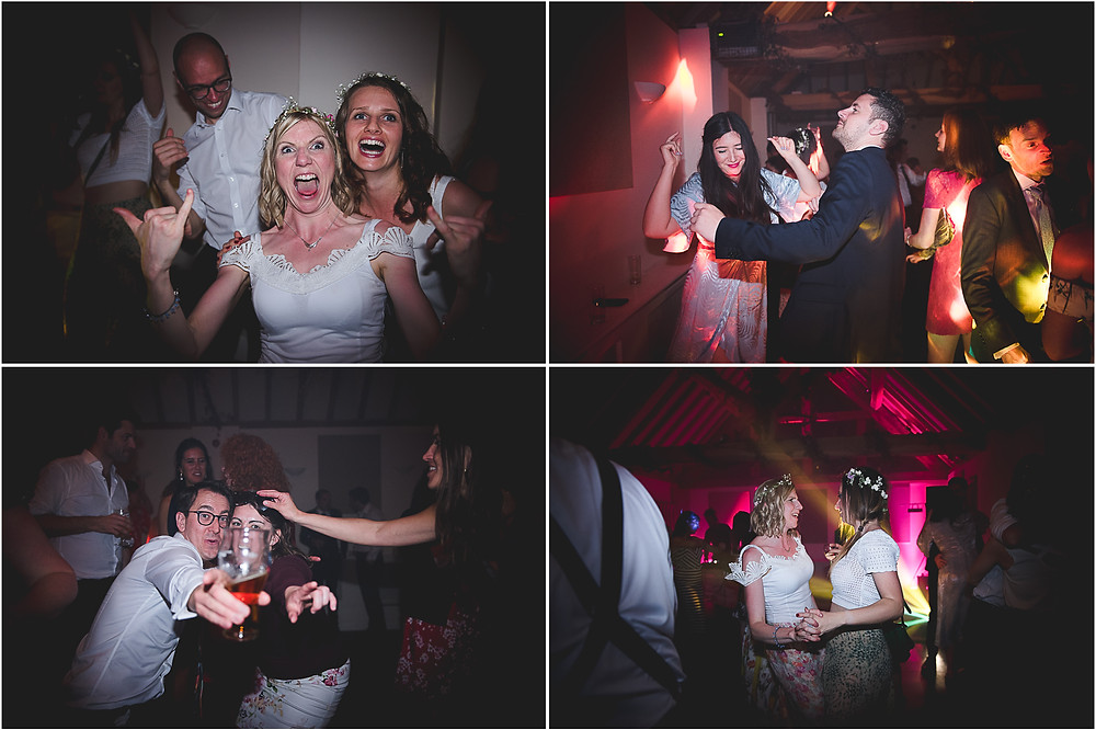 Wedding guests dancing as Dev Djs at Warwickshire wedding