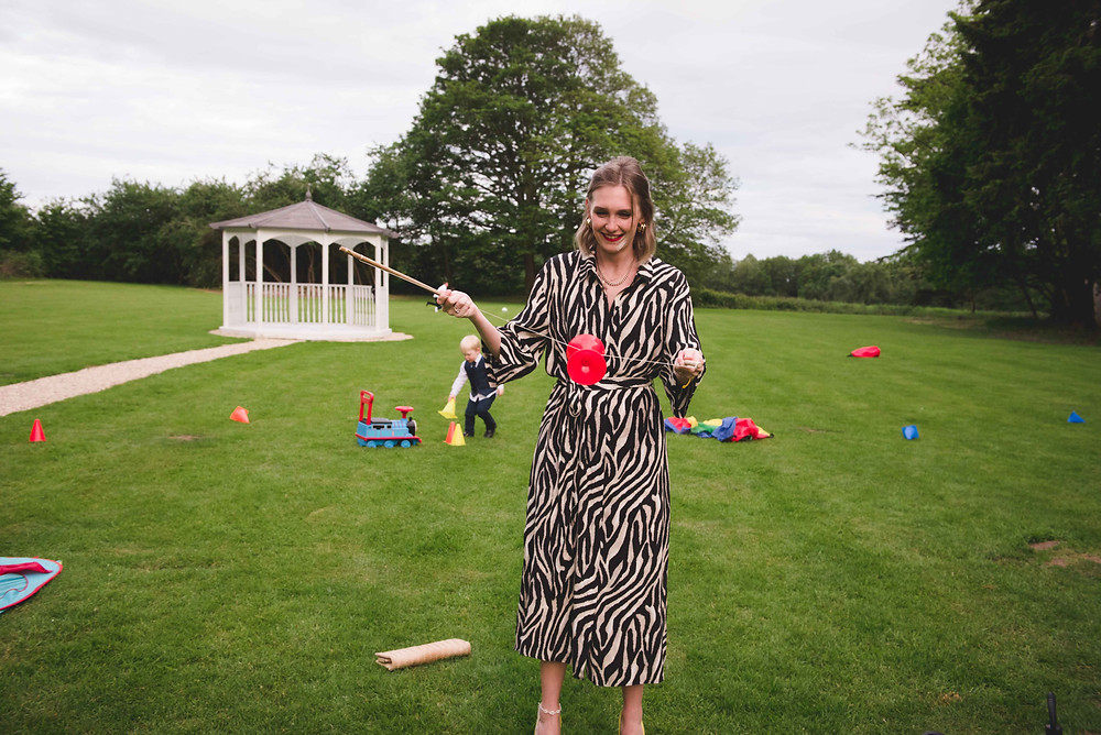 garden games at Somerford Hall wedding