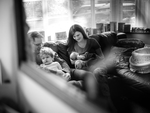 Documentary family photography - When three became four