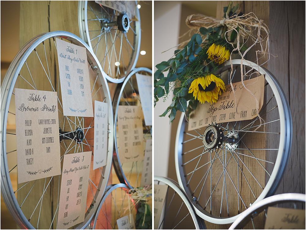 Bicycle wheel table plan