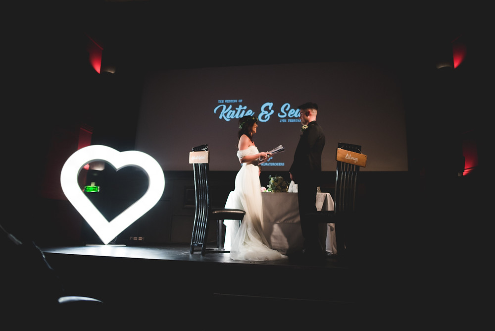 wedding ceremony at birmingham's electric cinema