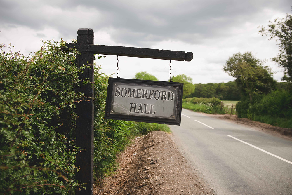 Sign outside Somerford Hall