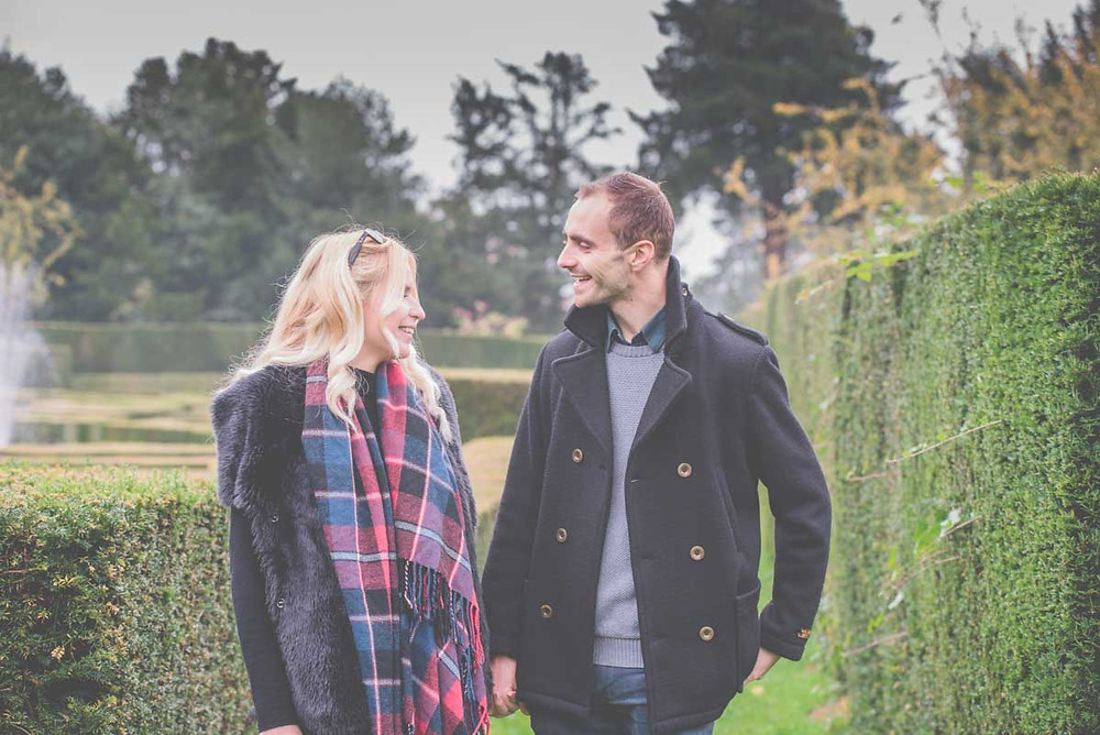 Engagement photoshoot at Whitbourne Hall