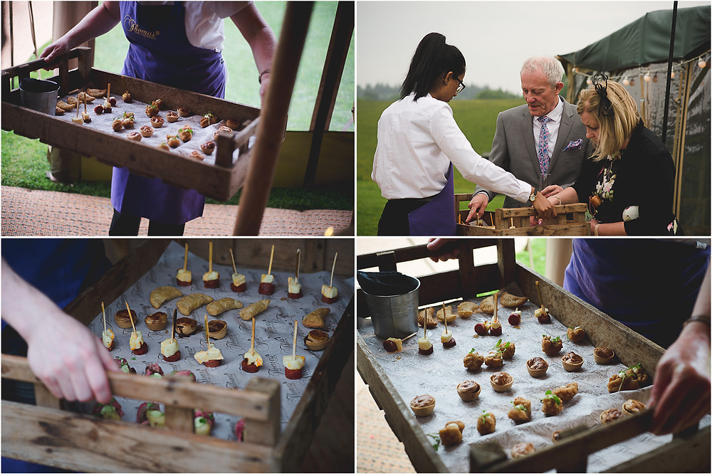 canapes at Ludlow wedding reception