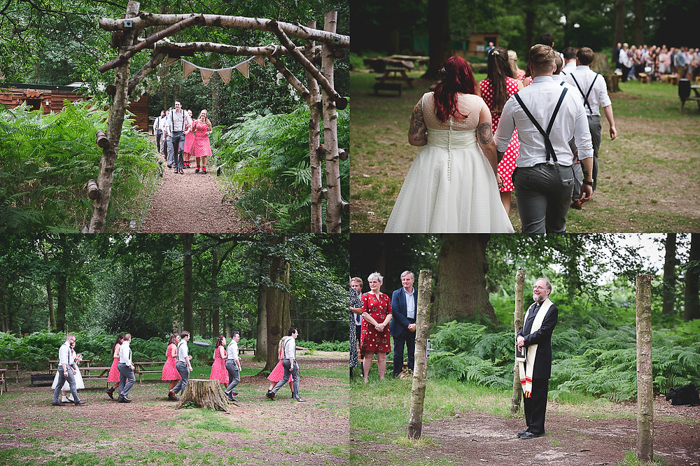 Bridal party make way to outdoor blessing