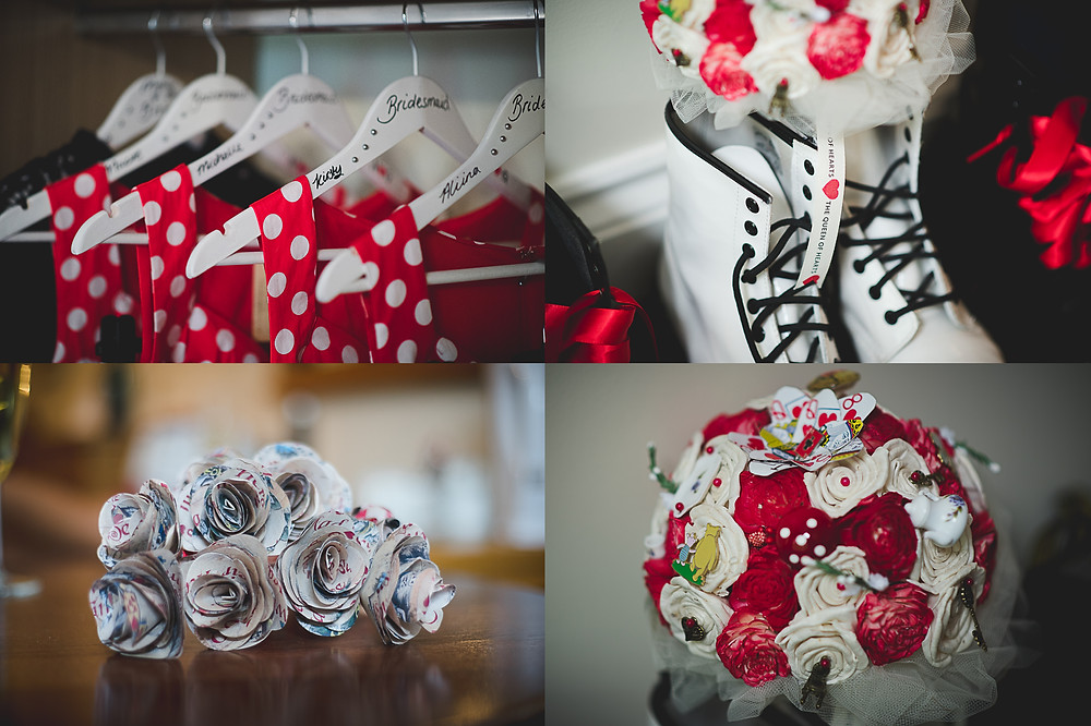 Alice in Wonderland inspired wedding details