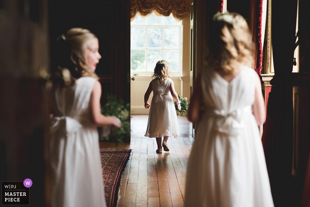 flower girls at Hagley Hall wedding