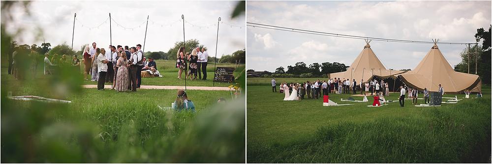 Wedding tipi from Sami Tipi at Cuttlebrook Farm in Derbyshire