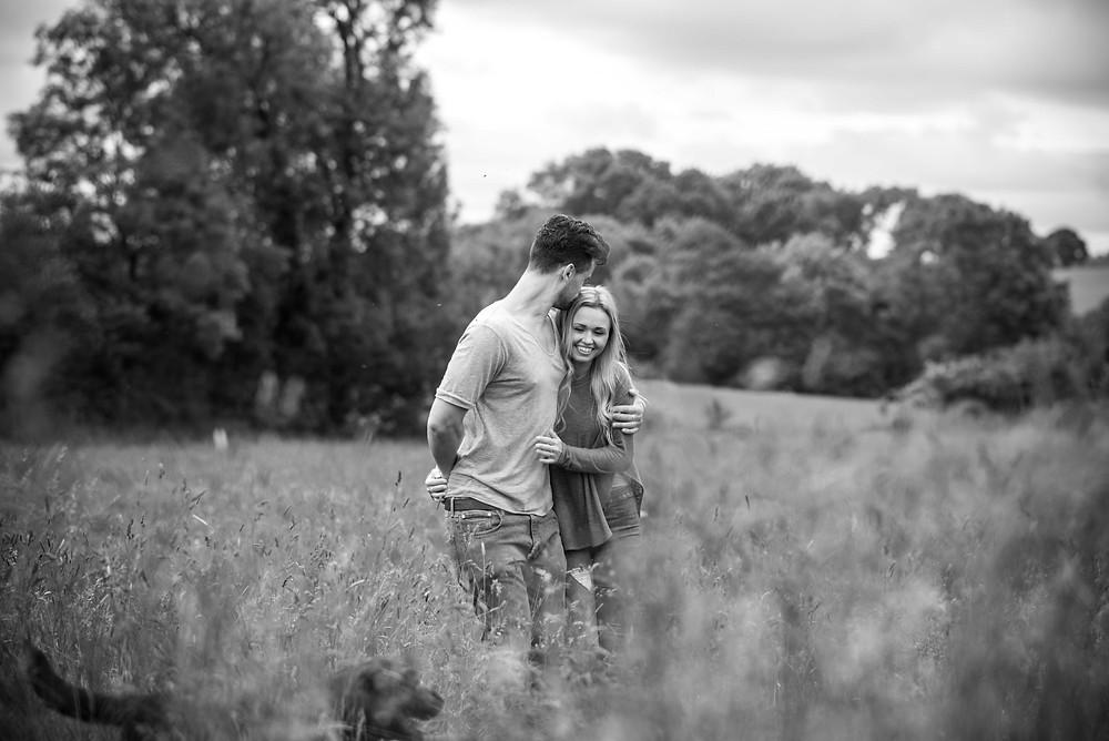 Black & White wedding photographer Shropshire
