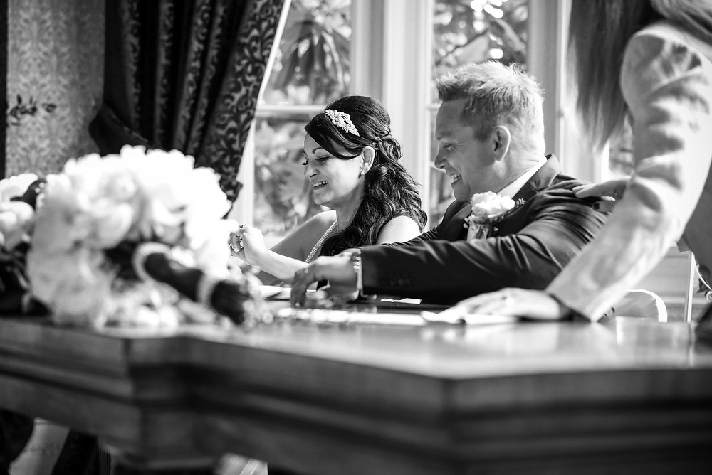 Documentary wedding photography at Ingestre Hall in Staffordshire