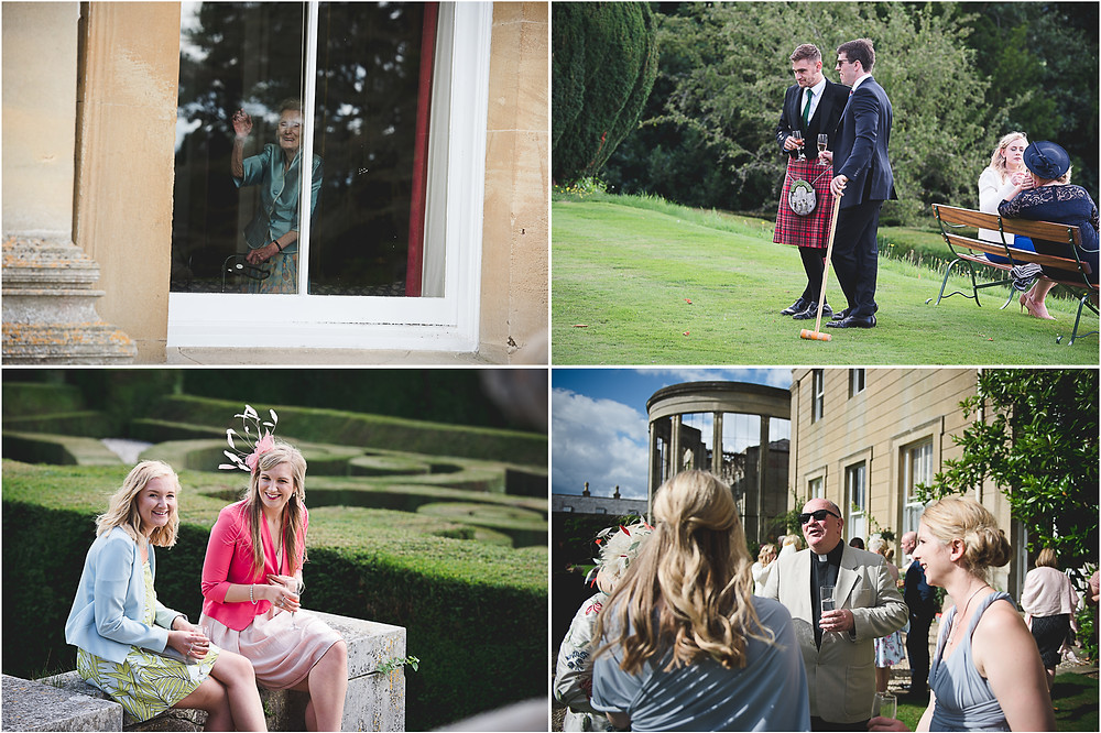 Unposed photographs at Whitbourne Hall wedding
