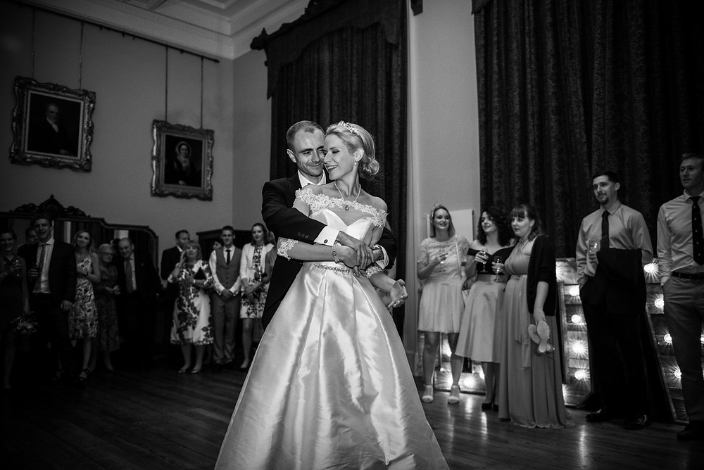 Wedding first dance at Whitbourne Hall