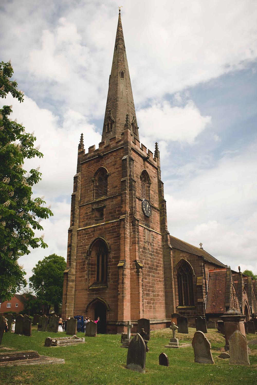 St Mark's Church in Brewood, Staffordshire wedding day