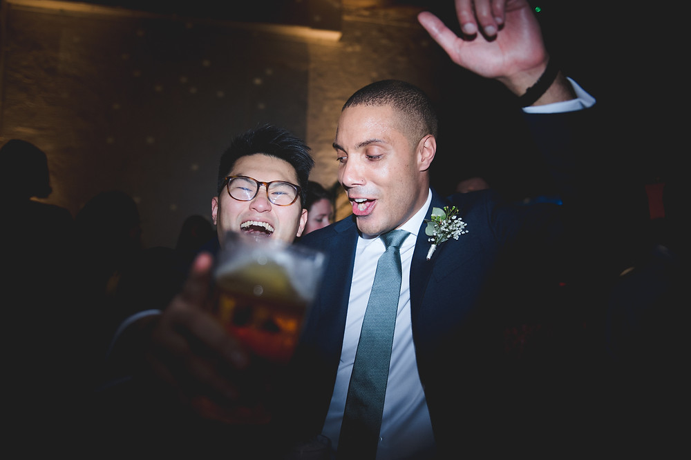 groom dancing at bristol wedding