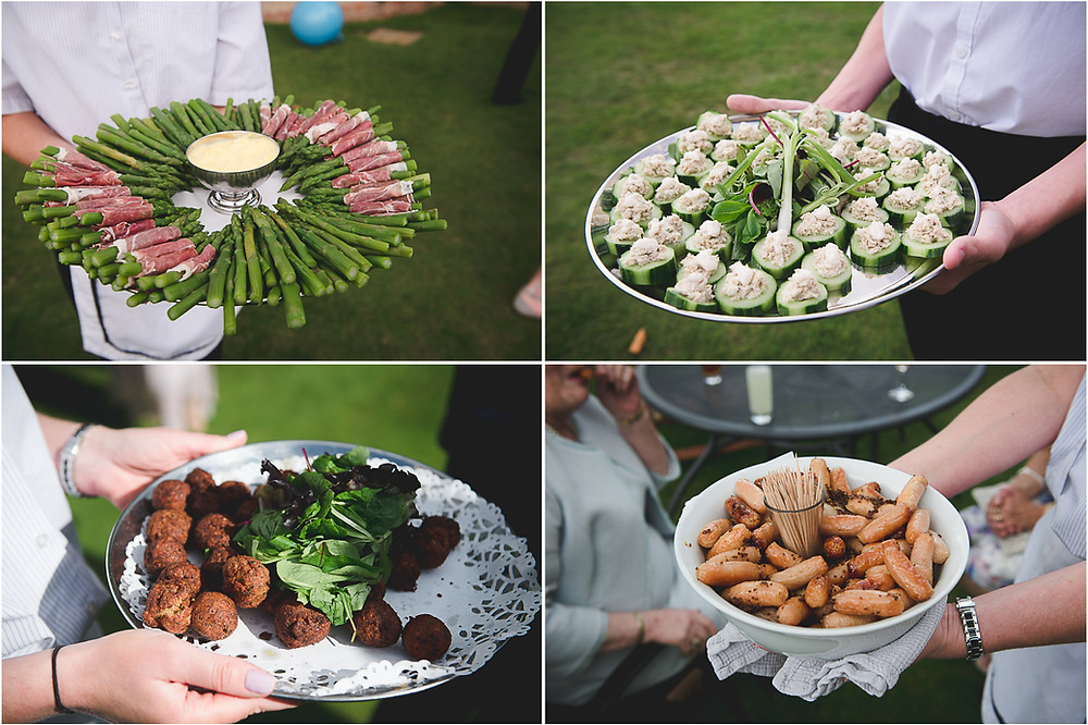 Canapes at Whitbourne Hall